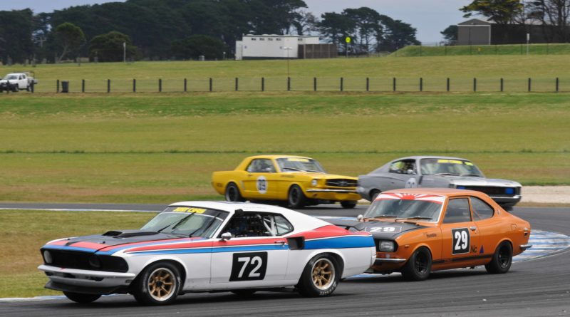 Andy Clempson claimed his first Fastback win in the Trophy Race
