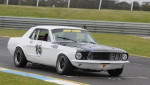 Pole sitter and weekend winner. Fraser Ross\'s Mustang is for sale...
