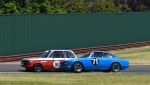 The Gabriel Digenis BMW and Rob Burns Alfa battles were very tight at the front