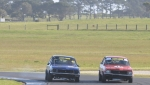 Nathan Gordon and Stephen Pillekers at each other's throats all weekend until blow-up blues for the blue car