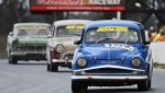 Group Na trio - the elegantly moustached Simca Aronde of Rose leads Parisi's Vedette and Cox's A90 Westminster