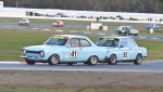 Jerry Lenstra's BDA Escort chased by Chris Ralph's BMW